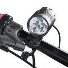 RUSTU D33 3-Cree XP-G R5 900lm 3-Mode White Bicycle Headlamp - Black