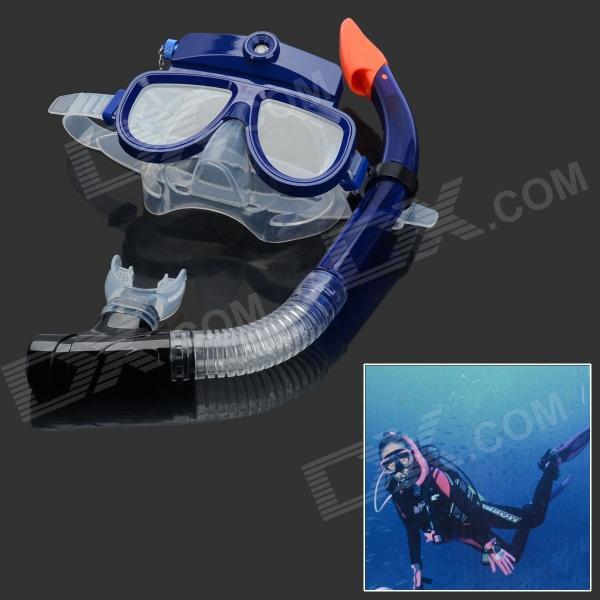 SC009 USB Rechargeable 3.0MP Underwater Diving Scuba Mask Digital Camera Camcorder - Blue (4GB)