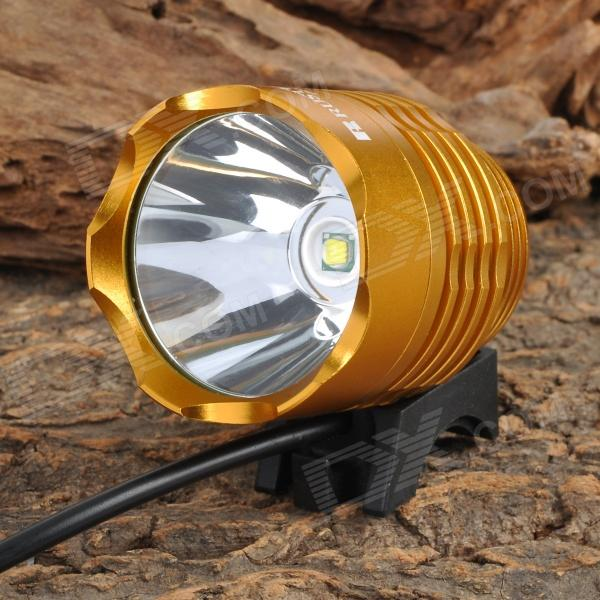 RUSTU D6Y 800lm 3-Mode White Bicycle Headlamp - Golden (4 x 18650)