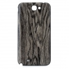 Wood Pattern Protective PU + Plastic Back Case for Samsung Galaxy Note 2 / N7100 - Grey
