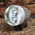 RUSTU D2TR Cree XM-L + XP-G T6 + R5 1200lm 3-Mode White Bicycle Headlamp - Grey (4 x 18650)