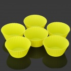 DIY Kitchen Cake / Jelly Pudding Mould - Fluorescent Yellow (6 PCS)