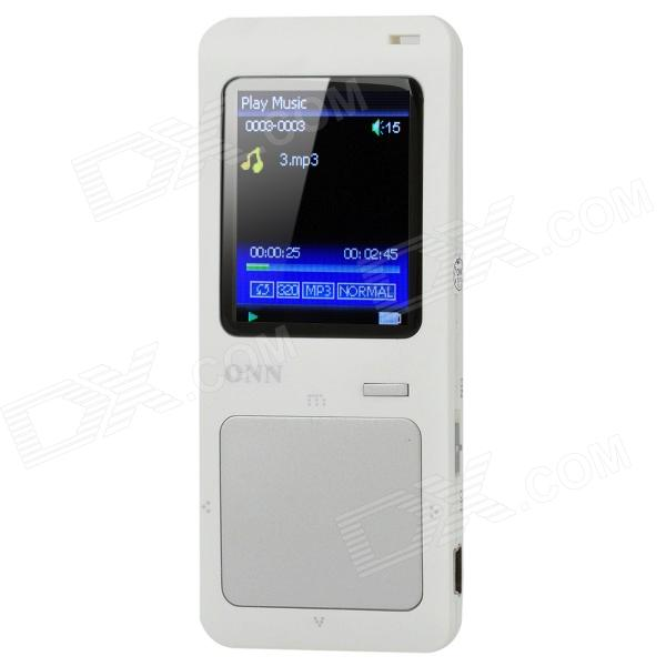 ONN Q7 Sport 1.8 Screen MP3 / MP4 Player w/ FM / TF - Silver + White (4GB) onn q6 mini 1 5 screen mp3 player w fm clip silver 4gb