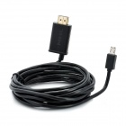 11Pin Micro USB MHL Male to HDMI Male Adapter Cable for Samsung i9300 Galaxy S3 - Black (300cm)