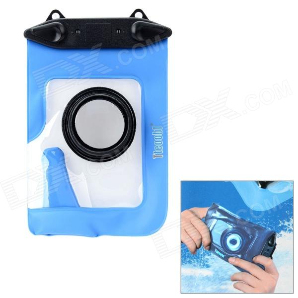 Tteoobl T-009C Waterproof Protective Bag for Canon / Panasonic / Nikon Camera - Black + Blue