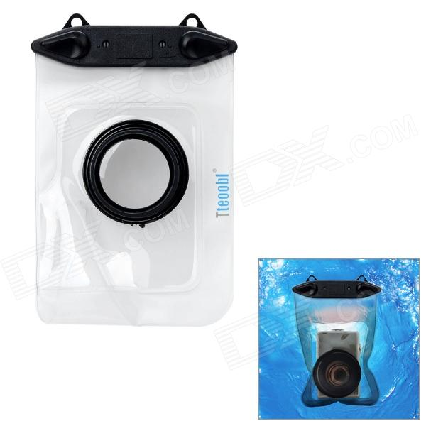 Tteoobl T-009C Waterproof Protective Bag for Canon / Panasonic / Nikon Camera - Black + Transparent