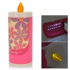 Candle Style Portable Folding 2-Way 0.7W 15-LED White / Yellow Eye Protection Night Mood Light - Red