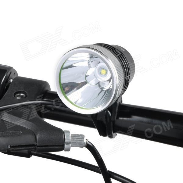 SingFire SF-516 Cree XM-L T6 1000lm 4-Mode White Light Bicycle Headlamp - Black + Silver (4 x 18650)