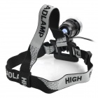 SingFire SF-516 1000lm 4-Mode White Light Bicycle Headlamp - Black + Silver (4 x 18650)