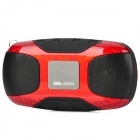 "Aoni L3 1.0"" LCD Portable Mini MP3 Speaker w/ FM Radio / Micro SD Card Slot - Red + Black"
