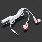 BSBESTE BSB-168 Flat In-Ear Earphones w/ Microphone - Black + Red (3.5mm Plug / 120cm)