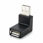 USB 2.0 Male to Female Vertical Angle Converter Adapter - Black