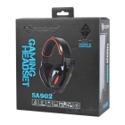 SADES SA-902 USB 2.0 Game Headphones w/ Microphone + Volume Control - Black + Red (300cm-Cable)