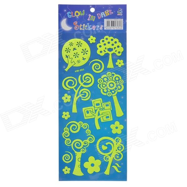 HM-005 Noctilucent Small Tree Sticker - Yellow
