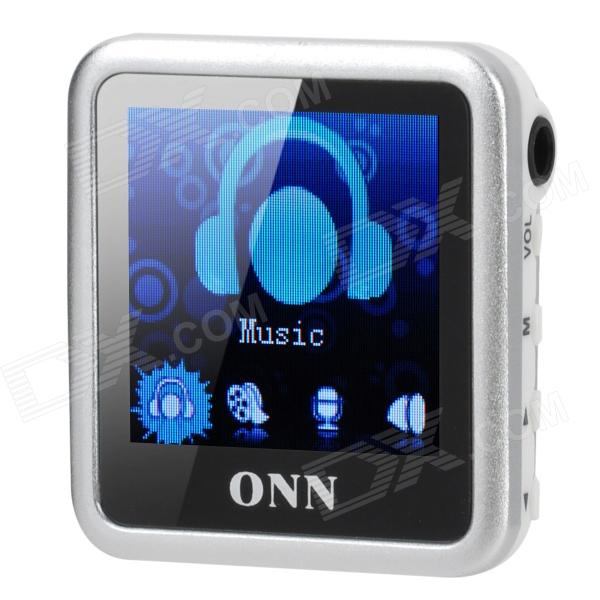 ONN Q6 Mini 1.5 Screen MP3 Player w/ FM / Clip - Silver (4GB) onn q6 mini 1 5 screen mp3 player w fm clip silver 4gb