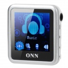 "ONN Q6 Mini 1.5"" Screen MP3 Player w/ FM / Clip - Silver (4GB)"