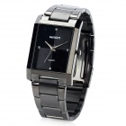 Wilon WL1062 Fashion Man's Stainless Steel Band Quartz Analog Business Wrist Watch - Black