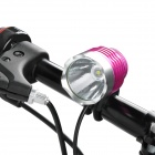 RUSTU D6F 800lm 3-Mode White Bicycle Headlamp - Pink (4 x 18650)