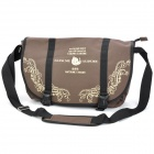 Fashionable Cartoon Style Nylon One Shoulder Messenger Bag - Coffee (120cm-Strap)