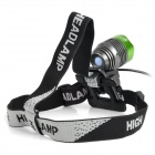SingFire SF-90 4-Mode 1000lm White Bicycle Headlamp - Green + Deep Grey (4 x 18650)