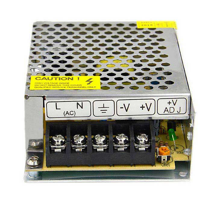 S-25-5 5V 5A Iron Case Power Supply - Silver (AC 110~220V)Switching Power Supply<br>- Color: Silver- Iron case material- Input: AC 110~220V- Output: DC 5V 5A- Suitable for surveillance cameras, LED light, electron industry equipment etc.<br>