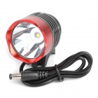 SingFire SF-90 Cree XM-L T6 4-Mode 1000lm White Bicycle Headlamp - Red + Deep Grey (4 x 18650)