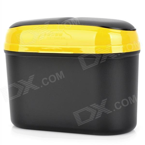 все цены на CQS-005 Car Plastic Trash Can Bin with Clip - Black + Yellow(2.5L) онлайн