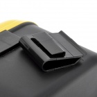 CQS-005 Car Plastic Trash Can Bin with Clip - Black + Yellow(2.5L)