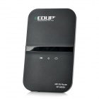 EDUP-9506N Portable WCDMA 3G IEEE802.11b/g/n USB 2.0 Wi-Fi Wireless WLAN Router - Black + White