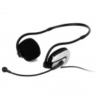 Dicsong CD-600MV Stylish Neckband Headphones w/ Microphone - White + Black (3.5mm Plug / 240cm)