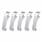 Mini Aluminum Alloy Bottle Openers Set - Silver (5PCS)