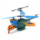 Bird Style Rechargeable 4-Channel 180mAh R/C Helicopter - Green + Blue + Yellow