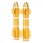 MP030 DIY Motorcycle Aluminum Alloy Rocket Screw Caps - Golden (2 PCS / Size S)