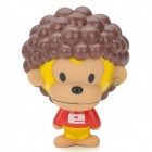 Cute Monkey Plastic Toy Doll w/ Suction Cup - Yellow + Red + Brown