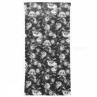 Skull Heads Pattern Seamless Outdoor Cycling Headcloth Kerchief Scarf - Black + White