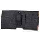 Protective Waist Belt PU Leather Case for Samsung i9220 - Black