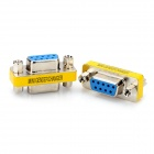 DE9 Serial RS-232 9pin Female to Female Adapter - Silver + Yellow (2 PCS)