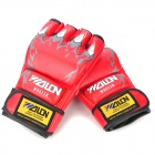 WOLON W85118 Boxing Training Gloves - Red (Pair)