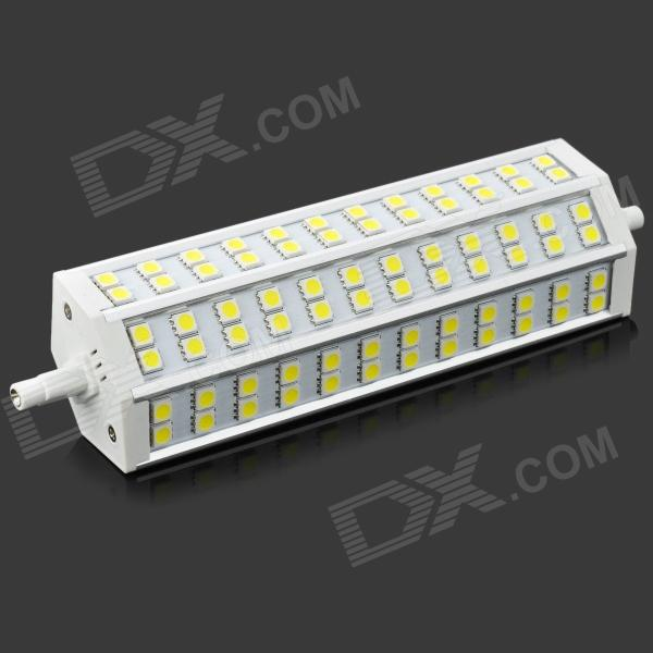 R7S 15W 1350lm 6500K 72-SMD 5050 LED White Light Lamp - Grey + White (AC 85~265V) r7s 15w 5050 smd led white light spotlight project lamp ac 85 265v