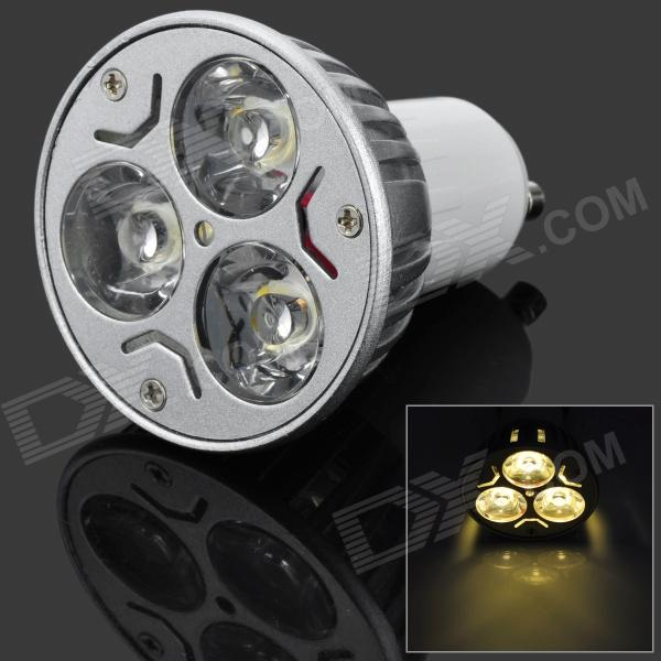цены  GU10 6W 300lm 3500K 3-LED Warm White Light Bulb - Silver (AC 85~265V)