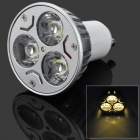 GU10 6W 300lm 3500K 3-LED Warm White Light Bulb - Silver (AC 85~265V)