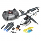 SanHuan SH-6030 Rechargeable 3.5-CH IR Remote Control R/C Helicopter w/ Camera / Gyro / TF - Black