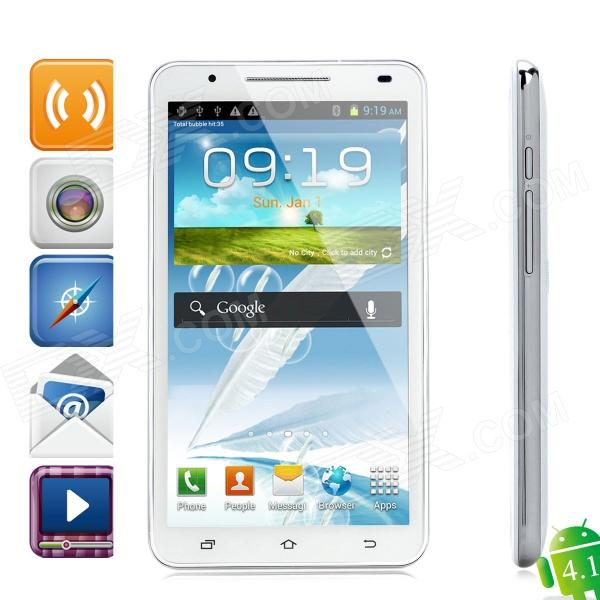 N9776 Android 4.1 WCDMA Bar Phone w/ 6.0″ Capacitive Screen, GPS, Wi-Fi and Dual-SIM – White