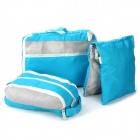 Panon PN-2756 Water Resistant Outdoor Travel Oxford Fabric Storage Bag Set- Blue (3 PCS)