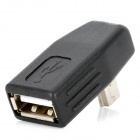 Mini USB Male to USB Female Adapter - Black