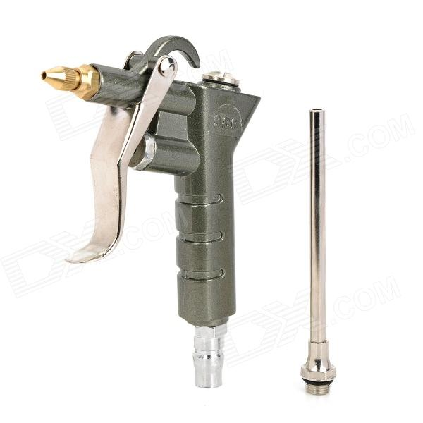 989 Aluminum Alloy Air Duster Gun - Silver 16mm bore 100mm stroke aluminum alloy pneumatic mini air cylinder mal16x100 free shipping