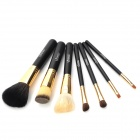 EMILY Makeup Brushes Set w/ Elegant Carrying Case - Black (7PCS)