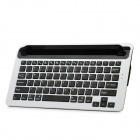 KM5 Bluetooth v3.0 82-Key Keyboard w/ Stand Slot for iPad Series; iPhone; Android - Black + Silver