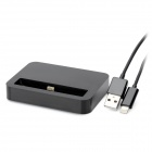 Charging Dock Station w/ USB to Lightning 8-Pin Cable for iPhone 5 / iPod Touch 5 / Nano 7 - Black