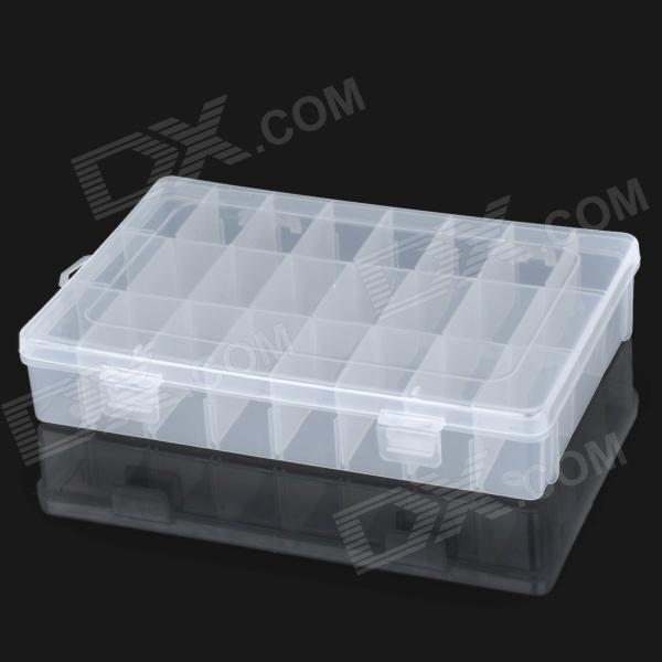 24-Compartment Free Combination Plastic Storage Box for Hardware Tools / Gadgets - Translucent White